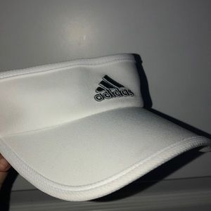White and Grey Adidas hat
